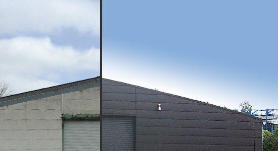 Fassade vorher und nachher