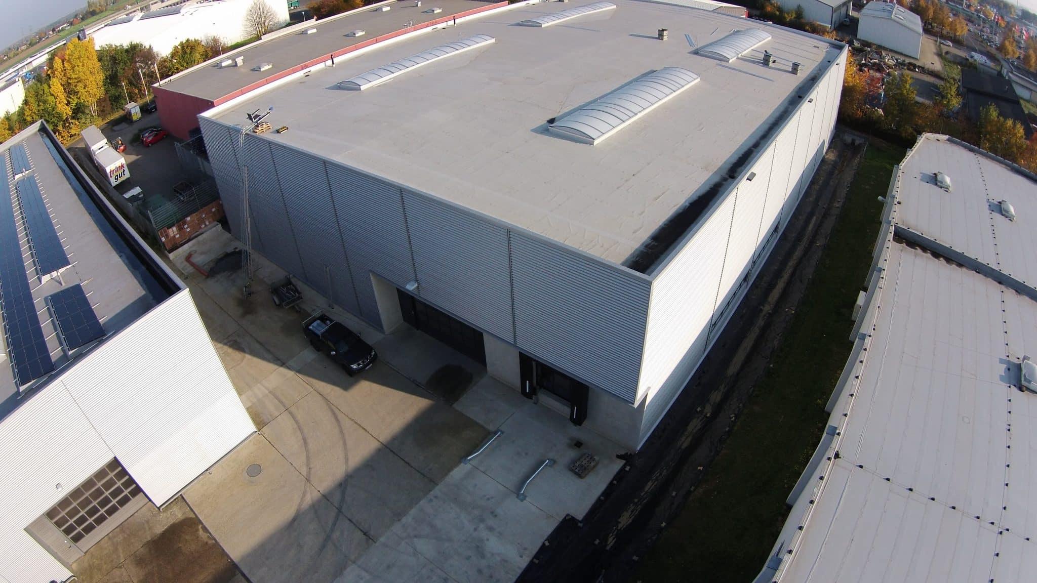 Ansicht der neuen Lagerhalle für DTG von oben