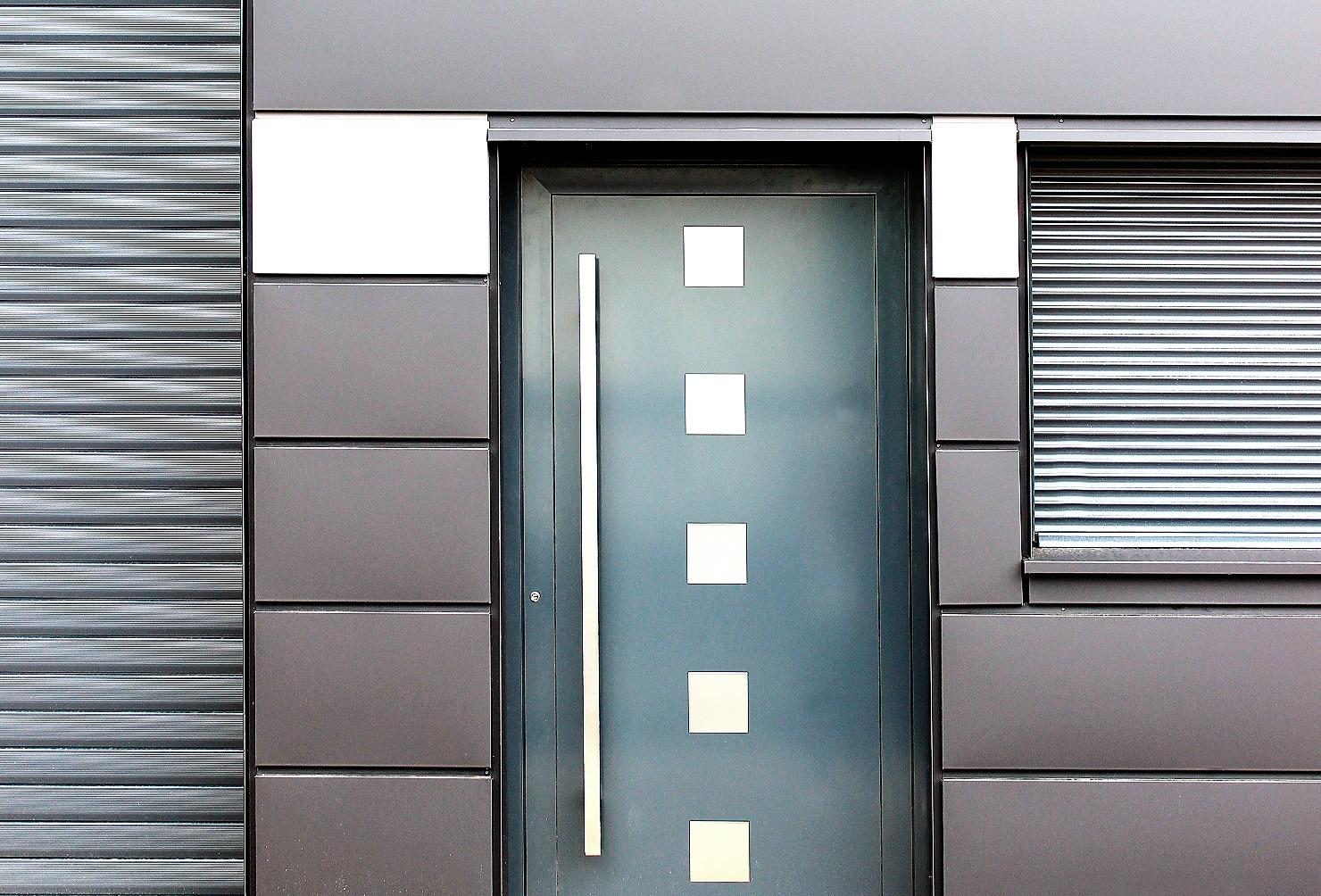 Beispiel für modernen Fassadenbau