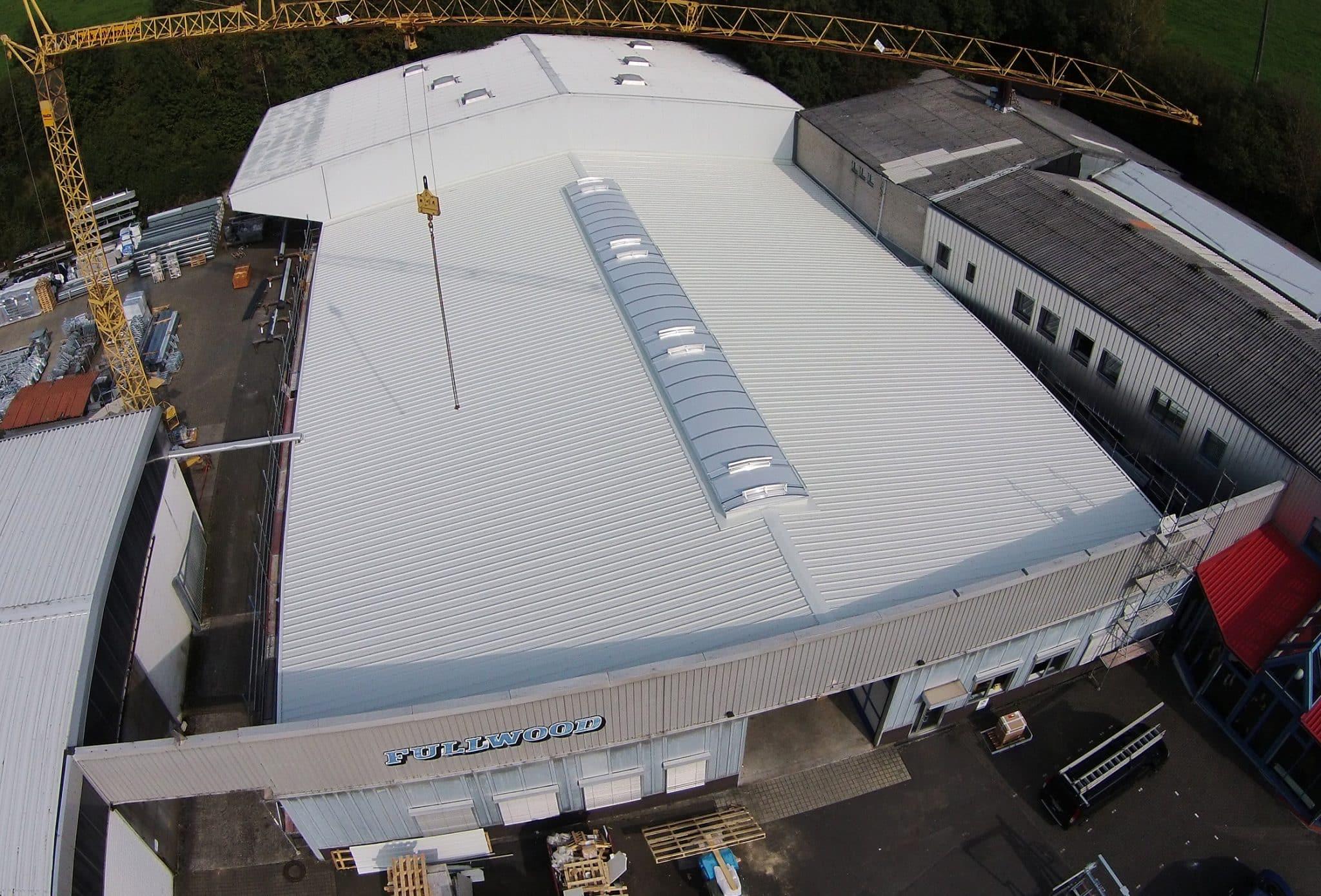 saniertes Dach von Lemmer Fullwood Ansicht von oben